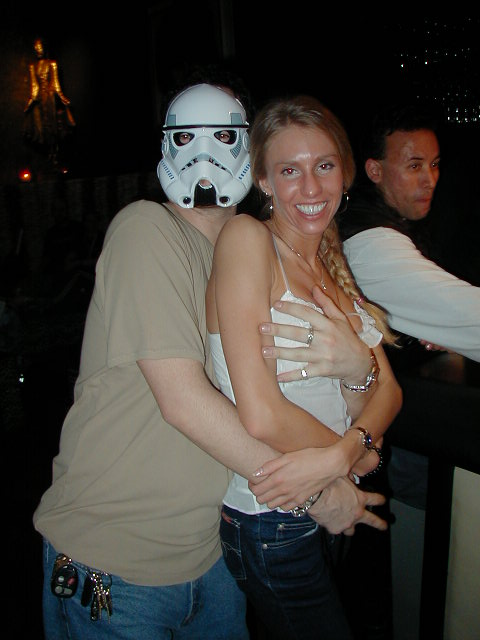 The owner Jeff converted to the Dark Side, and he's Boob Grabbing his own